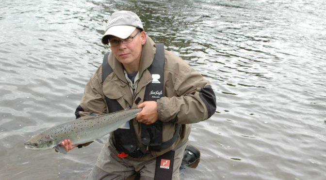 Lachsfischen am Dee in Schottland