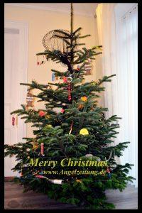 Frohe Weihnachten - Angler-Weihnachtsbaum