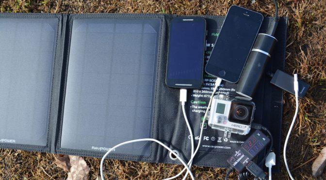Faltbares Solar Ladegerät für 2 USB Geräte