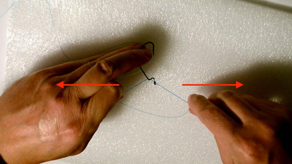 Drop Shot Knoten - Schritt 4